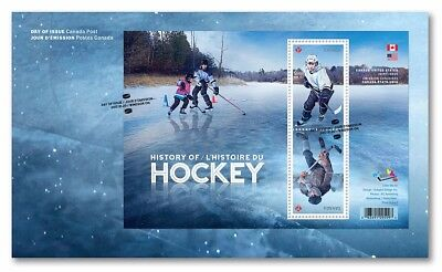 ma. HOCKEY HISTORY JOINT ISSUE with USA, FDC OFDC of 2 stamps MNH Canada 2017