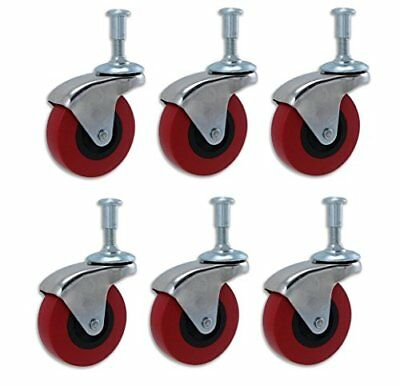 "6 Pack 2"" Replacement wheel casters castors 360 Swivel heavy duty For Cart Stool"