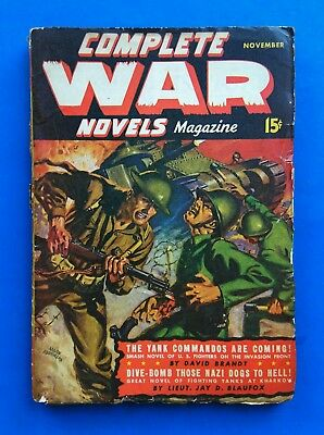 COMPLETE WAR NOVELS Pulp Magazine ~ NOV 1942 ~ Dive Bomb Those NAZI DOGS TO HELL