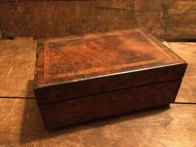Vintage Lancel Paris Wooden Box Humidor Jewelry Diary Shelf Wood Antique Music