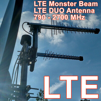 4G LTE MONSTER Beam ANTENNE, 800/1800 MHz / 2600 MHz, CONNECTEUR SMA + 3G, WIFI
