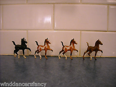 Lot Breyer Stablemate Parade Of Breeds Trotting Foal American Paint Rose Grey Bl