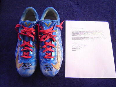 New York Giants Odell Beckham Jr Game Used Signed Inscribed 15 Nike Cleats Loa 3