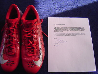 New York Giants Odell Beckham Jr Game Used Signed Inscribed 2015 Nike Cleats Loa