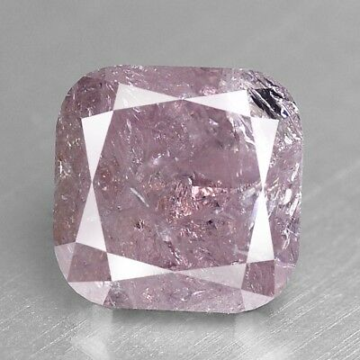 0.88 cts Pink Diamond Cushion Fancy Natural F724