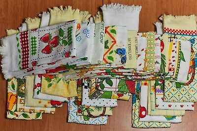 12 x Assorted Coloured Printed Pattern Kitchen Tea Towels 100% Cotton Terry