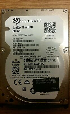New Seagate Notebook Laptop Thin 500GB 7200RPM SATA 6GB/s 32 MB 2.5 ST500LM023