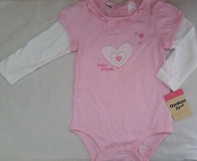 OSH KOSH B'GOSH Girl Licensed romper all-in-one bodysuit pink NEW sizes 1, 2