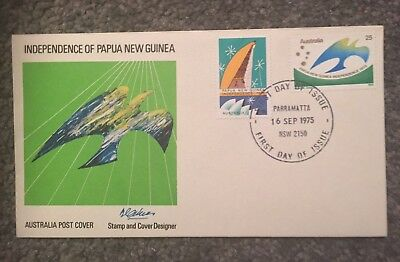 Australia 1975 Papua New Guinea Independence Official First Day Cover