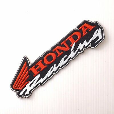 "5.3/4""x1p. honda wing racing embroidered iron on sew patch arm chest suit cap"