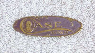 Case XX Tested XX Brass Plaque Used on Display Cases and Other Items