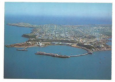 NT - c1980s POSTCARD - AERIAL VIEW OF DARWIN, SHOWING THE PORT & CITY, NT