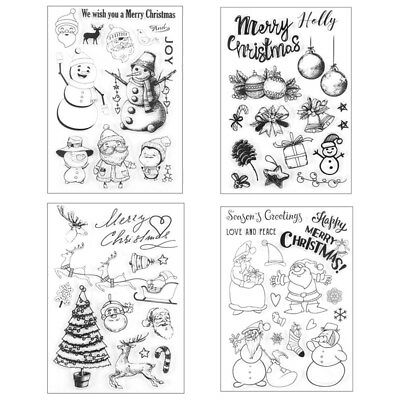 Silicone Rubber Merry Christmas Clear Stamp Seal Scrapbooking Diary Craft Card