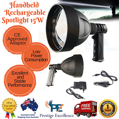 CREE LED Handheld Spot Light 15W Rechargeable Spotlight Hunting Shooting Torch