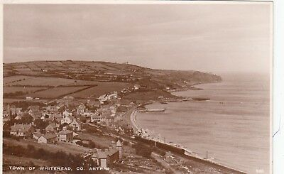 Whitehead, Antrim Real Photo Postcard with Whitehead Belfast 1950 cancellation