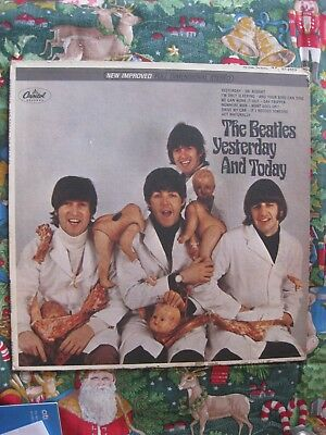 """BEATLES BUTCHER Cover & LP  """"FIRST STATE"""" COA by Perry Cox; Slick is VG+++ to NM"""