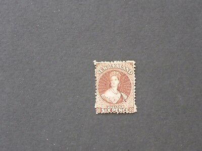 New Zealand  Chalon Head 6d Red-Brown SG 122 FU