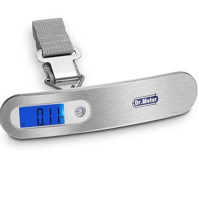 Backlit Digital Hanging Luggage Scale Tare Function Stainless Electronic Weight