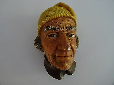 "Vintage Bossons Chalkware Figure Head - ""Liechtenstiner"" 5.5"" high"