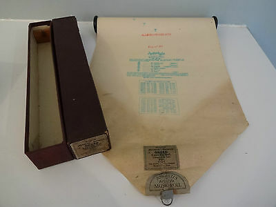Antique Pianola / Player Piano Roll - Loin du Bal - Gillet