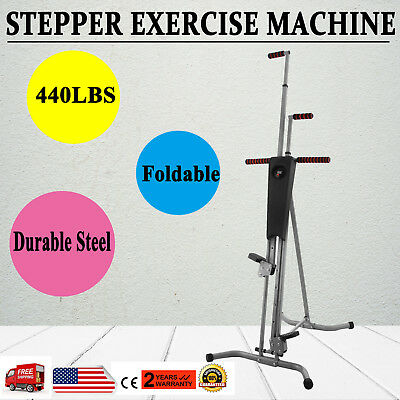 Maxi Climber Vertical Stepper Exercise Fitness with Monitor & Manual Sealed