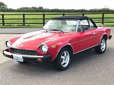 Fiat 124 Spider 1981 2000cc Fuel Injection fully UK registered low mileage
