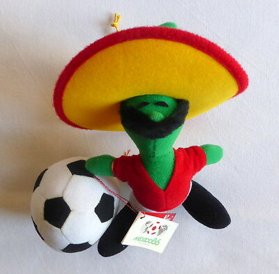 Vintage soft toy PIQUE the oficial mascot of WORLD CUP MEXICO 86 18 cm sealed
