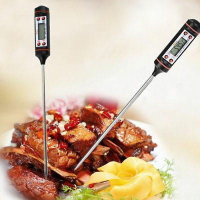 Digital Thermometer with Cover Kitchen Food Baking BBQ Oil Meat Steak Monitoring
