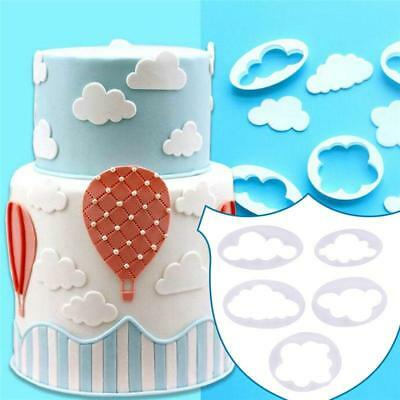 5x Fluffy Cloud Cookies Cutter Fondant Cake Decorating Mold Tool Sugarcraft DIY