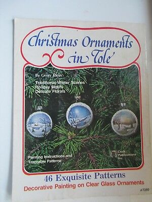 CHRISTMAS ORNAMENTS IN TOLE  Gerry Klein 46 exquisite patterns