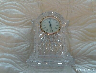 Waterford Crystal 'Lismore' large Quartz Carriage Clock  in working order