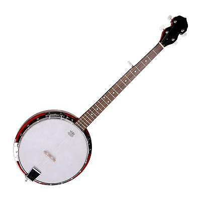 Banjo 5 Corde Bluegrass Traditional 22 Tasti Inlay In Madre Perla Pelle Remo