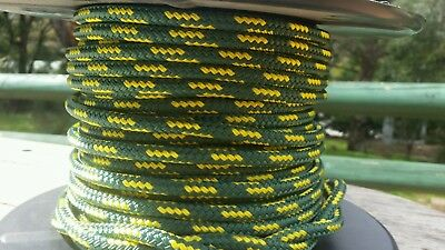 100% polyester double braid rope  8mm sold by the meter