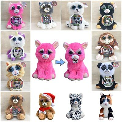 Feisty Pets - Soft Plush Stuffed Scary Face Toy Animal With Attitude (11 Styles)