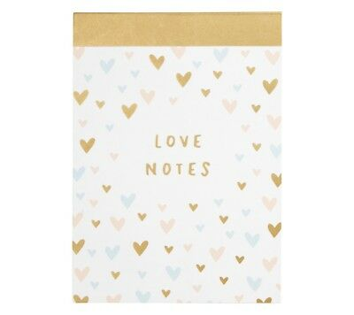 Kikki K Met You A6 notepad Love Notes 20 Unique page designs 120 sheets