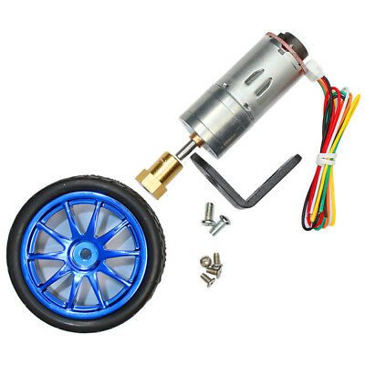 6V 210RPM Encoder Motor DC Gear Motor with Mounting Bracket and Wheel