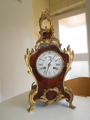 French Red Shell & Ormolou Bracket Clock GWO