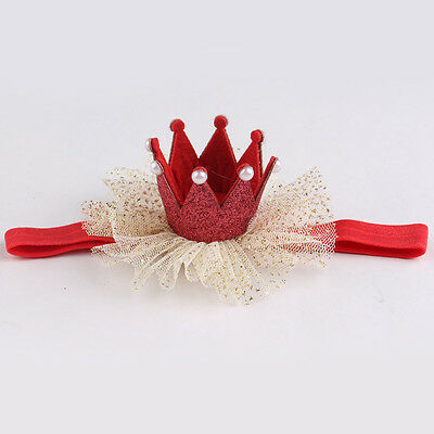 New Red Kid Girl Baby Toddler Cute Crown Headband Hair Band Accessories Headwear