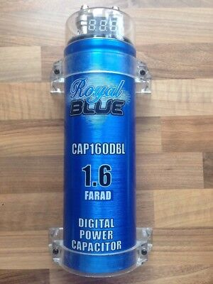 Royal Blue 1.6 Farad Power Capacitor
