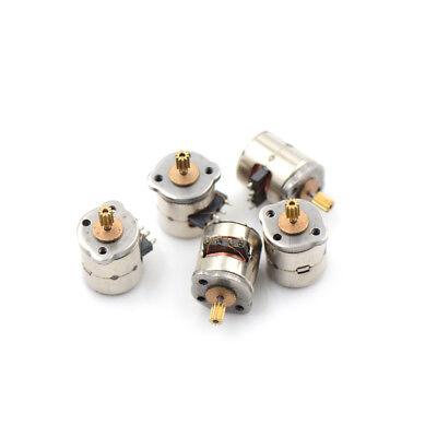 10 Pcs 3-5v Dc 2 Phase 4 Wire Dia 8mm Dc Stepper Motor 8*9.5mm sT