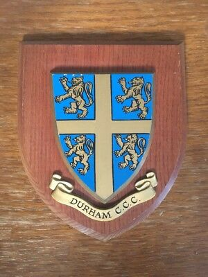 Durham CCC Hand Painted Wooden Plaque