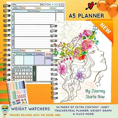 Food Diary WEIGHT WATCHERS Points Journal Planner Book 3mth Diet Mini Diary B12