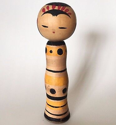Small Kokeshi 9cm Japan Antique Wooden Doll No.AM1021