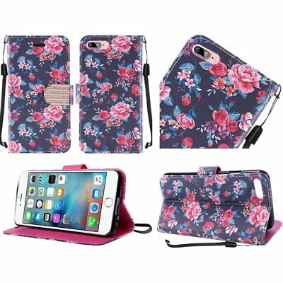 HR Wireless Cell Phone Case for Apple iPhone 7 Plus - Tropical Romantic Colorful