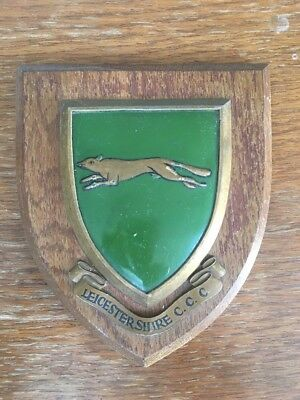 Leicestershire CCC Vintage Wooden Plaque