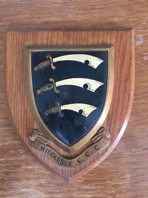 Middlesex CCC Vintage Wooden Plaque