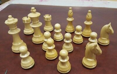 Nice Staunton Style Wooden Felted Chess Set with 8cm King