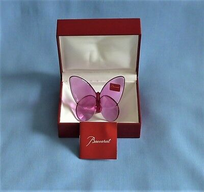 Baccarat Crystal Lucky Butterfly in box
