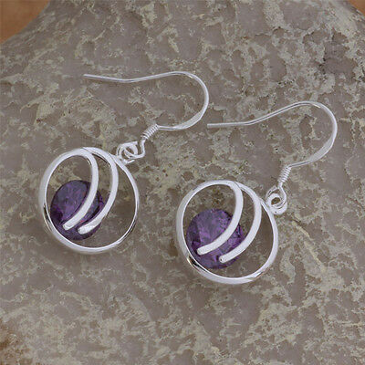 Hot Sold Ladies Jewelry 925 Solid Silver Earrings Dangle Stud Love Gift