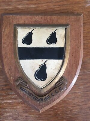 Worcestershire CCC Vintage Wooden Plaque